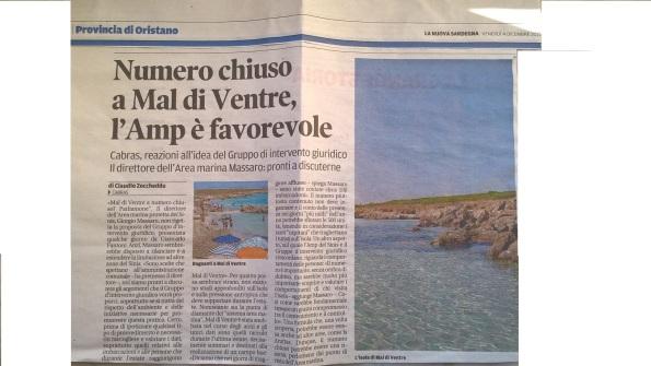 La Nuova Sardegna, 4 dicembre 2015