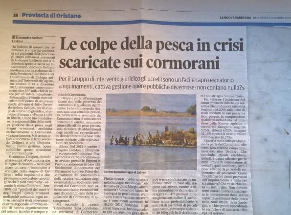 La Nuova Sardegna, 9 dicembre 2015