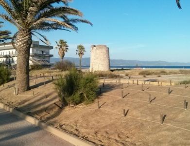 Cagliari, lavori per la realizzazione del cordone dunale