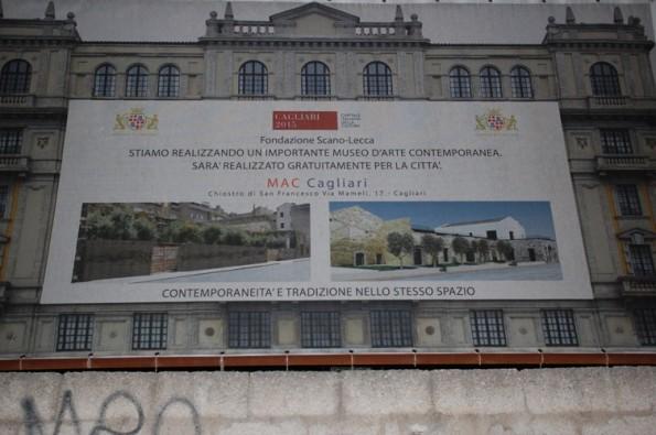 Cagliari, Convento di S. Francesco di Stampace, cartello inizio lavori