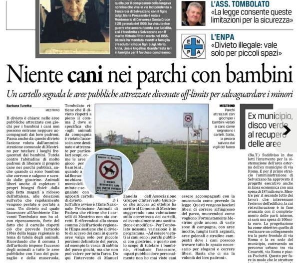 Il Gazzettino, 21 gennaio 2016