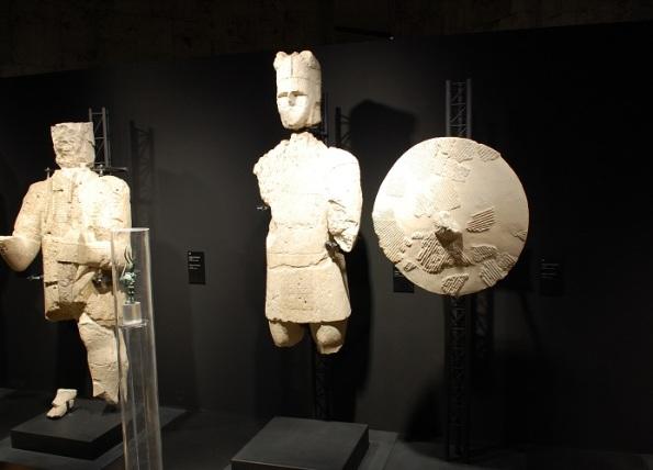 Cagliari, Museo Archeologico Nazionale, i Giganti di Monte Prama, Arciere e Guerriero