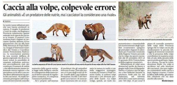 Il Mattino di Padova, 7 gennaio 2016