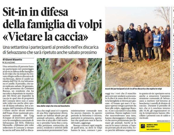 Il Mattino di Padova, 24 gennaio 2016