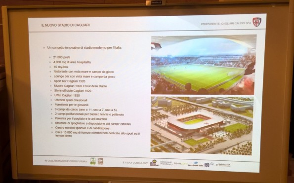 Cagliari, progetto nuovo stadio (2016)