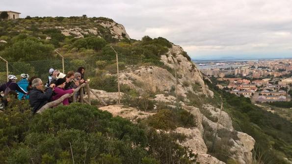 Cagliari, Sella del Diavolo, partecipanti all'escursione