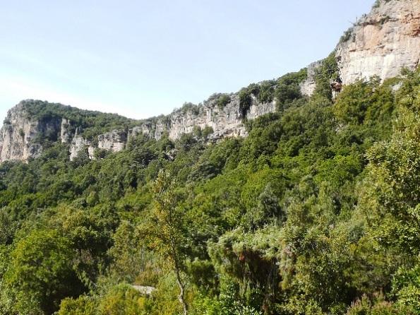 Seui, Foresta demaniale di Montarbu, falesie