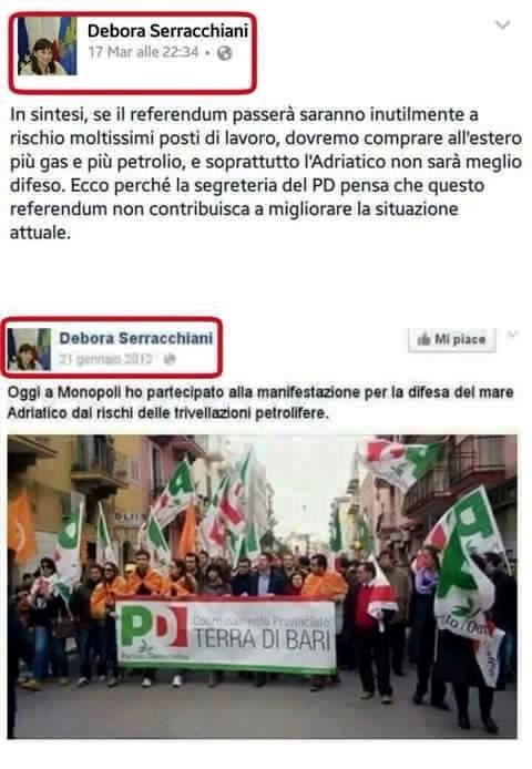 screenshot pagina Facebook di Debora Serracchiani (da L'Huffington Post)