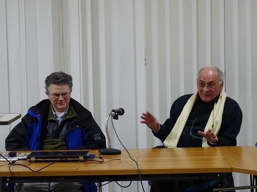 gli ornitologi Stefano Bottazzo e Aldo Tonelli