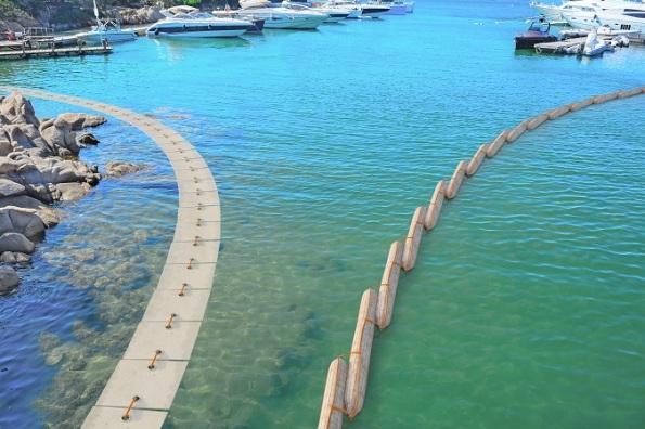 Porto Cervo, disinquinamento con barriere Geolana