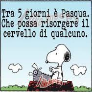 Snoopy e la Pasqua di speranza