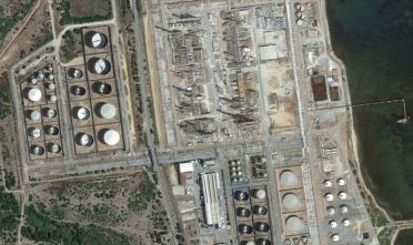 Sarroch, impianti petrolchimico (da Google Earth)