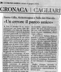 L'Unione Sarda, 4 giugno2016