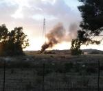 Selargius, località Sa Muxiurida, incendio di rifiuti (giugno2016)