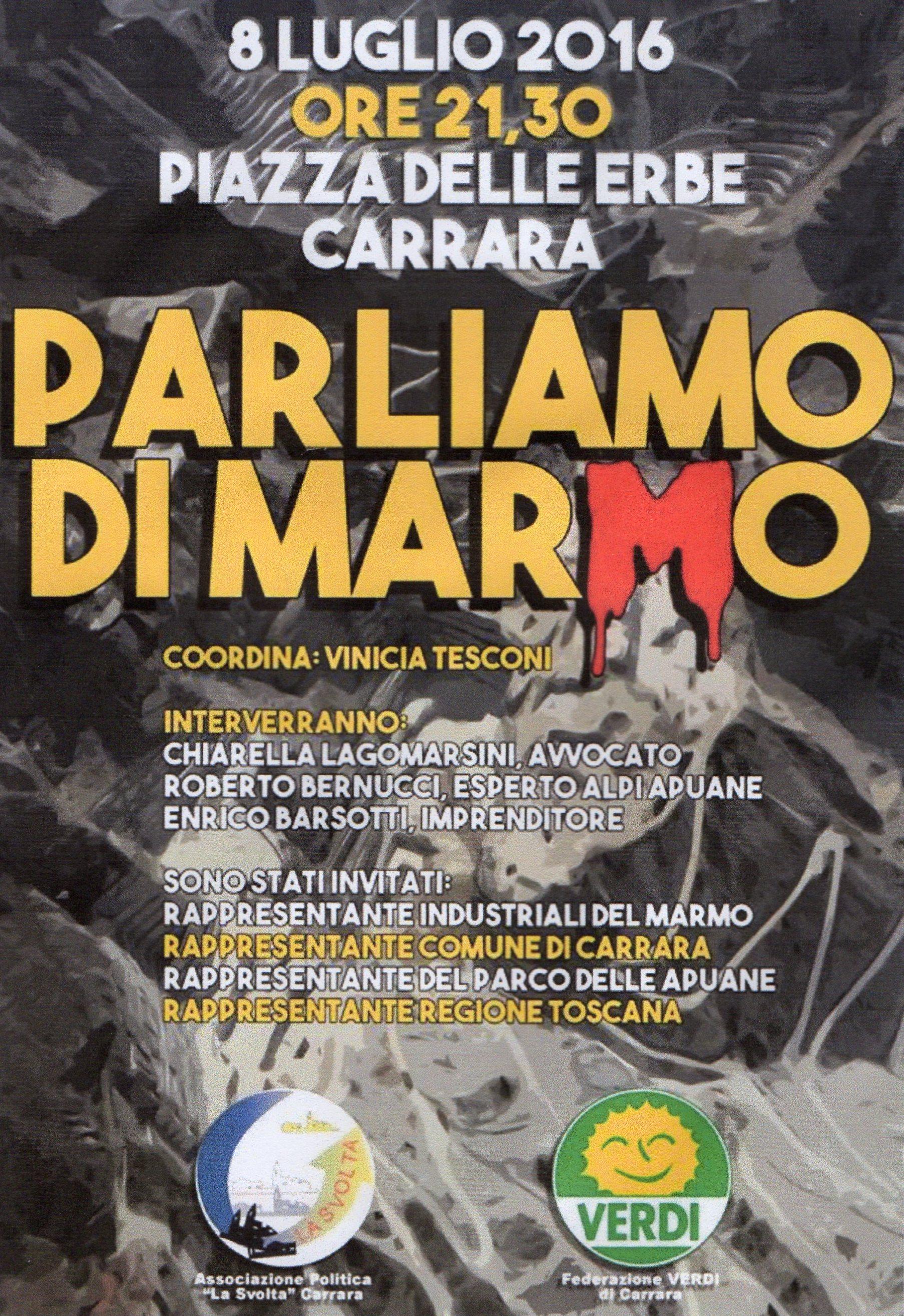 dibattito marmi 8 luglio 2016, Carrara