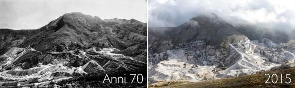 Monte Sagro, comparazione fra gli anni '70 e il 2015