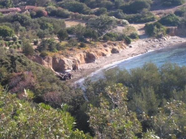 Villasimius, Porto Luna, ruspa sulla spiaggia (3 agosto 2016)