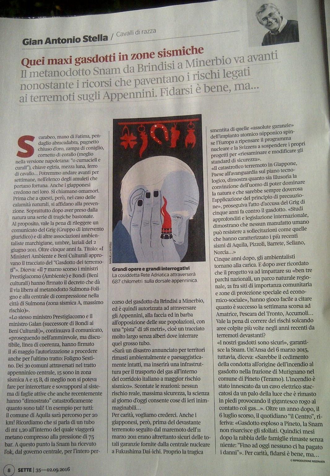 Il Corriere della Sera - Sette, 2 settembre 2016