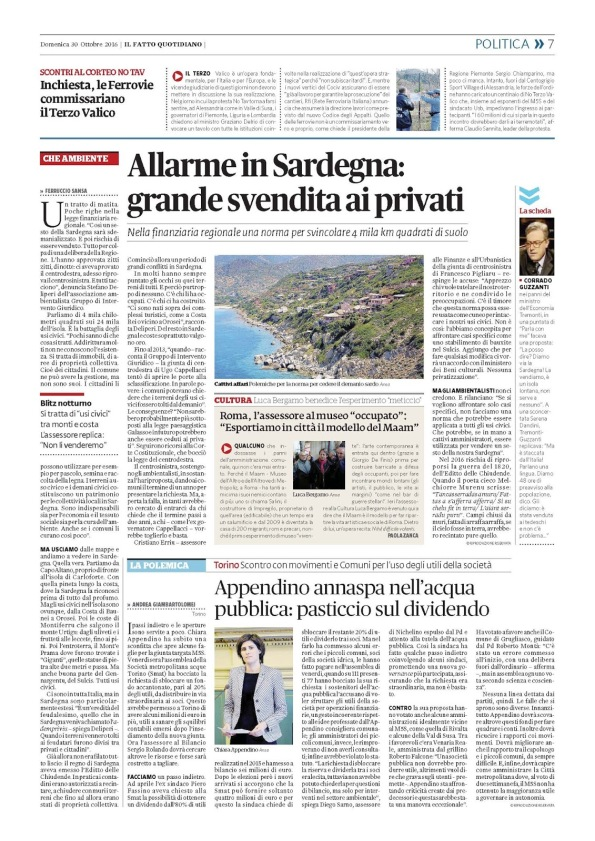 Il Fatto Quotidiano, 30 ottobre 2016