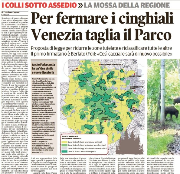 Il Mattino di Padova, 19 ottobre 2016