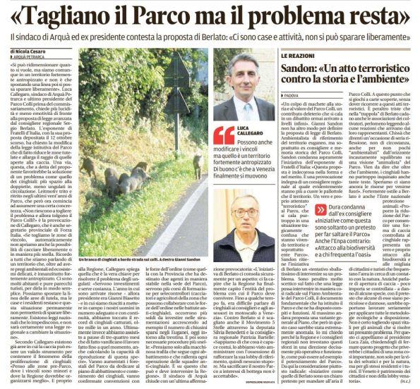 Il Mattino di Padova, 20 ottobre 2016