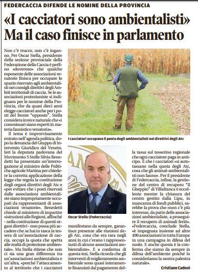 Il Mattino di Padova, 24 dicembre 2016