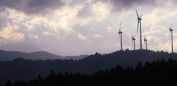 Appennino Umbro-Marchigiano, Monte dei Sospiri dopo la realizzazione della locale centrale eolica (2016)