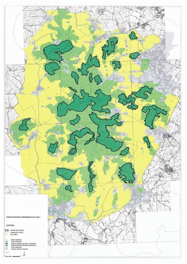 Parco naturale regionale dei Colli Euganei secondo la proposta di legge Berlato (2016)