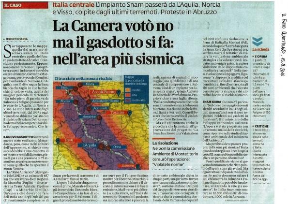 Risultati immagini per gasdotto rete adriatica