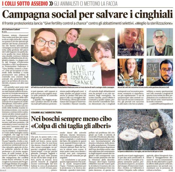 Il Mattino di Padova, 9 novembre 2016