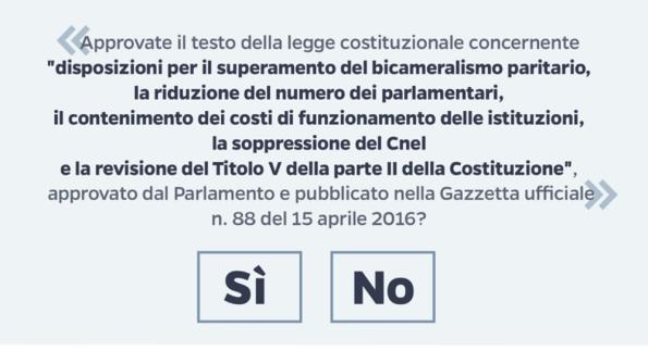 quesito referendario (da La Stampa)