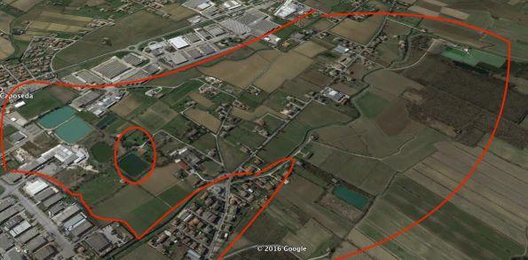 Torreglia, area agricola interessata