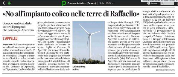 Corriere Adriatico, 9 gennaio 2017