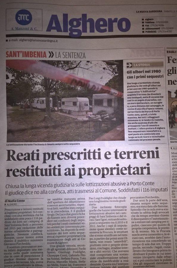 La Nuova Sardegna, 11 febbraio 2017