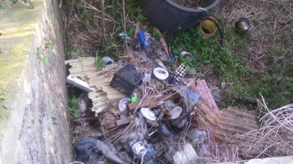 Calasetta, Cussorgia, cumulo di rifiuti