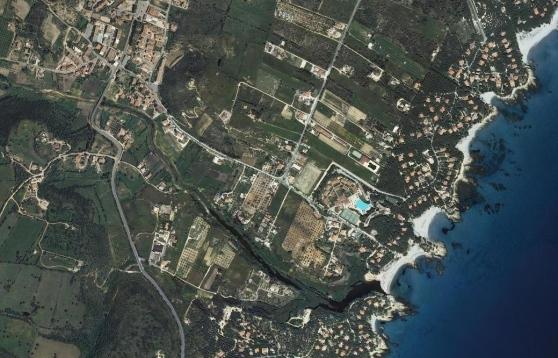 Orosei, veduta aerea della costa di Cala Liberotto (da Sardegna Geoportale)