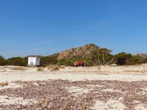 Siniscola, Bèrchida, camper e accampamento sulle dune (30 settembre 2017)