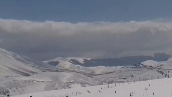 Norcia, Piani di Castelluccio, inverno