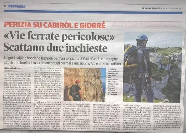 La Nuova Sardegna, 3 aprile 2018 - Copia