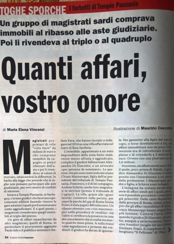 L'Espresso, 8 aprile 2018, 1