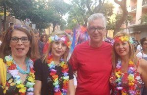 il Presidente della Regione autonoma della Sardegna Francesco Pigliaru al Gay Pride (Cagliari, luglio 2018)